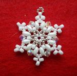WHITE Snowflake Christmas Beading Kit